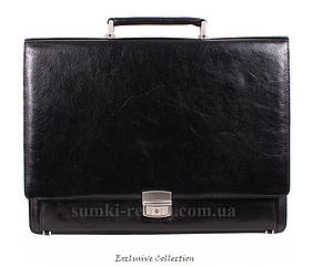 Кожаный мужской портфель 3526 черный