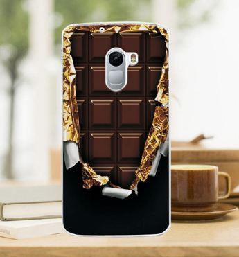 Силиконовый бампер для Lenovo A7010 / Vibe X3 Lite с картинкой Шоколад