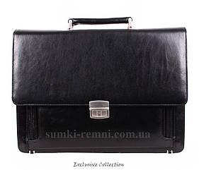 Кожаный мужской портфель 3491 черный