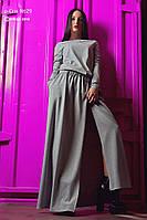 Платье женское, серое, осень-зима P-CRIS №29