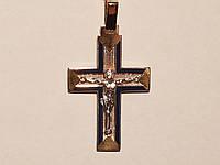 Золотой крестик. Распятие Христа. Артикул 505009жс
