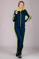 Классический спортивный костюм женский трикотажный с лампасами на манжете (резинке) внизу Турция
