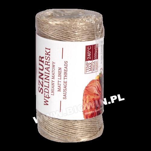 Веревка льняная матовая для колбасных, рыбных изделий ( 240C ) - 100г