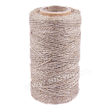 Веревка льняная матовая для колбасных, рыбных изделий ( 240C ) - 100г , фото 2