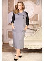 Женское платье с капюшоном Мадейра размер 48-72 / батальное
