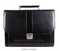Солидный мужской портфель из натуралиной кожи
