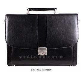 Кожаный мужской портфель 3448 черный