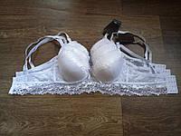 Бюстье женское кружевное белого цвета  С - 75,80,85
