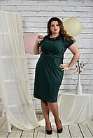 Женское модное платье батал 0447 цвет зеленый размер 42-74