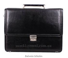 Кожаный мужской портфель 3458 черный