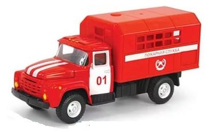 Металлическая машинка ЗИЛ Пожарная служба 01 PLAY SMART 6519-A
