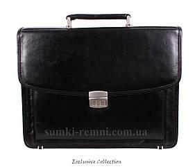 Кожаный мужской портфель 3469 черный