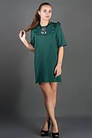 Женское платье свободного кроя, рукав 3/4 Блуми цвет зеленый размер 44-52