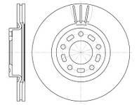 Тормозной диск передний 300 мм Mazda 3 (BK)( BL) 5 (CR19) (CV)