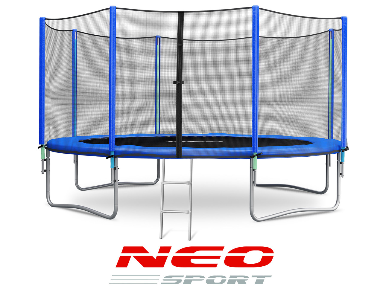 Батут NeoSport 465 см. с внешней сеткой и лесенкой