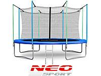 Батут NeoSport 374 см. с внутренней сеткой и лесенкой HERO