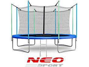 Батут NeoSport 374 см. с внутренней сеткой и лесенкой HERO, фото 2