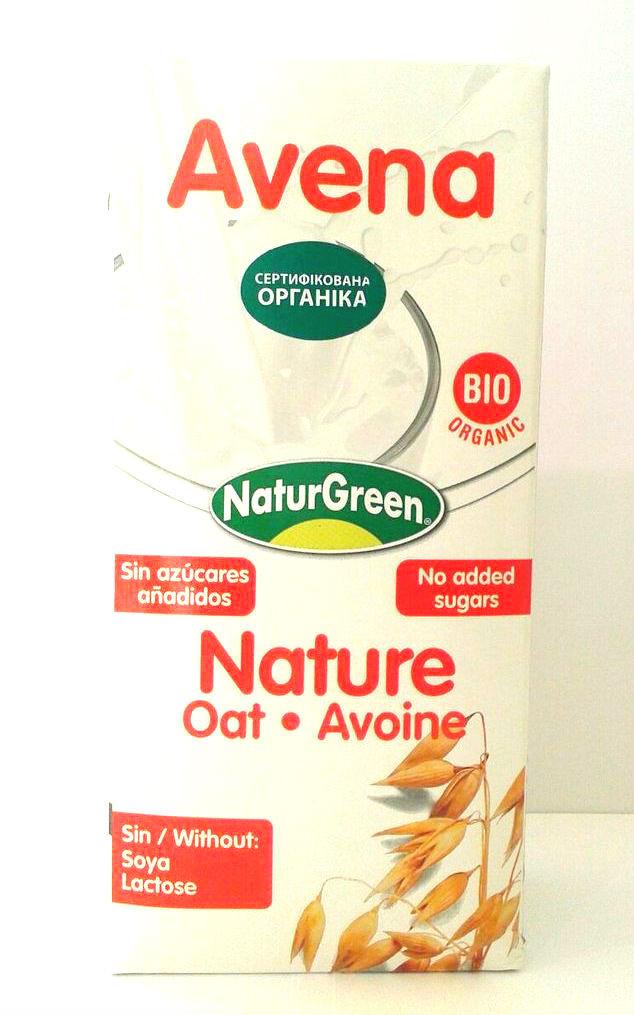 Молоко органическое растительное овсяное Natur Green 1 литр