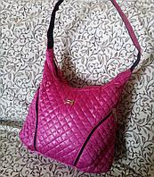Дутая сумка женская Розовая