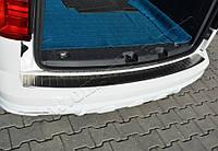 Volkswagen Caddy 2015+ гг. Накладки на задний бампер (нерж)