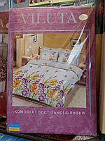 """Набор постельного белья """"Viluta"""", полуторный, 214х150, цветочный рисунок, фото 1"""