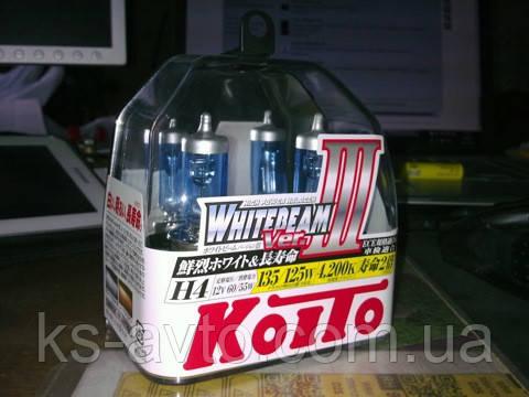 Автолампы Koito WhiteBeam III / 4200К / H4 / 2шт P0754W   135/125w