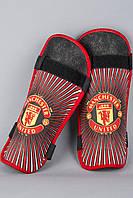 Щитки Манчестер Юнайтед, MU, красные, ф4629