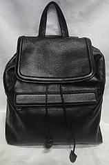 Стильный кожаный рюкзак. Молодёжный рюкзак из натуральной кожи на затяжке.