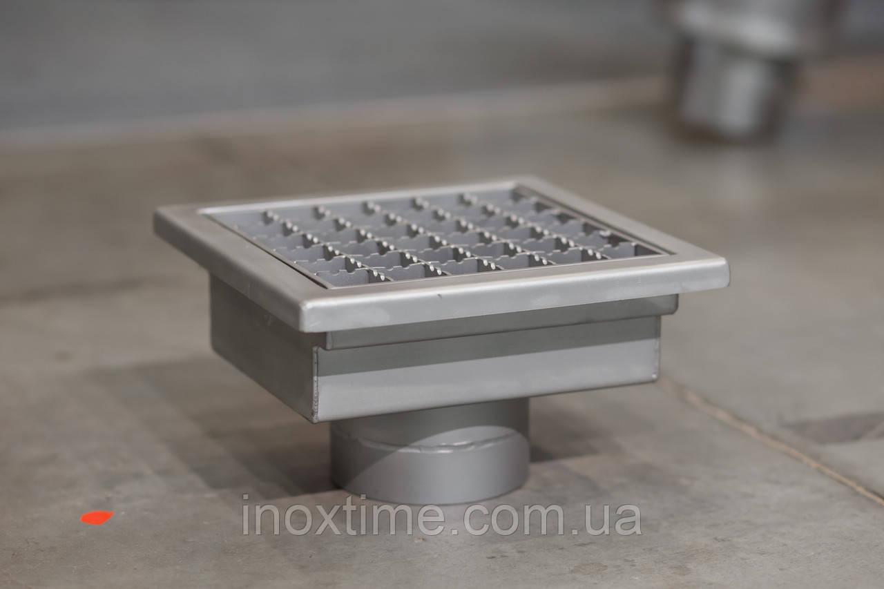 Канализационный трап 180*180 из нержавеющей стали