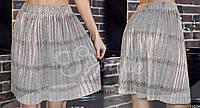 Замшевая юбка мини с золотым напылением