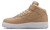 Мужские высокие кроссовки Nike Air Force, найк аир форс бежевые