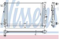 Радиатор охлаждения Фольксваген Пассат Б5 без конд. 1996-->2006 Nissens (Дания) 60308A