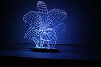 """3D светильник-ночник """"Лилия"""""""