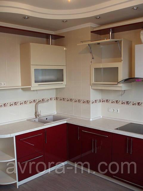 """Кухня под заказ с крашенными фасадами - Мебельная Компания """" Avrora - M """" в Киеве"""