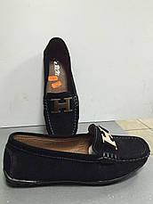 Туфли-мокасины черные без каблука замшевые женские CaRiMi, фото 2