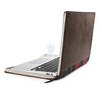 """Элитный кожаный чехол в виде книги Twelve South Leather Case BookBook для MacBook Air 11"""" - коричневый (12-1103)"""