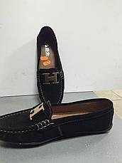 Туфли-мокасины черные без каблука замшевые женские CaRiMi, фото 3