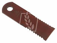 Нож соломорезки (січкарні)  AGV (зубчатый)подвижный  175x50x4,5mm -20,5mm  CASE/IHC 87318316