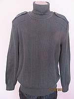 Свитер форменный вязанный, цвет полынь