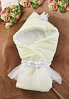 """Конверт -одеяло на выписку """"Crown""""(весна-осень)"""