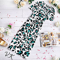 Шелковое платье-халат, принт леопард