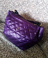 Женская стеганая дутая сумка