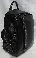 Стильный рюкзак из натуральной кожи .Женский кожаный рюкзак чёрный.