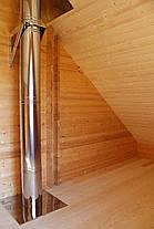 Проход перекрытия 310 мм из нержавеющей стали для трубы дымохода «Версия Люкс», фото 2