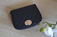 Синяя кожаная сумка Virginia Conti
