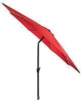 Пляжный и садовый зонтик большой от солнца 300 см красный с углом