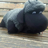 Барашек Шон маленький игрушка-подушка серого цвета