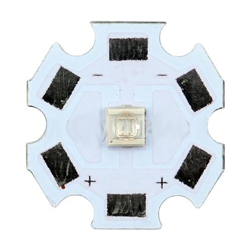 UV LED диод 365-370 nm: диаметр 20 мм, разметка полярности, служба до 50 000 ч - Сто грамм в Киеве