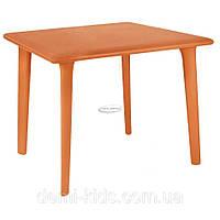 Стол Dessa 90x90 оранжевый