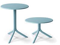 Стол пластиковый круглый Step + Step Mini голубой